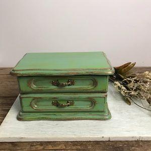 Vintage Upcycled Jewelry/ Trinket Box
